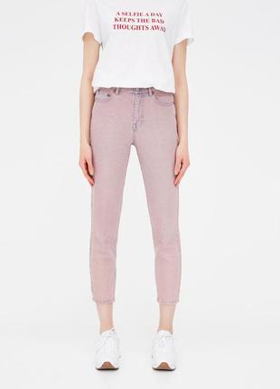 Шикарные джинсы mom fit с высокой посадкой pull&bear, 38р, испания