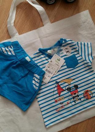 Літній комплект (шорти та футболка)