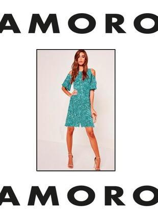 Glamorous. ромпер. модная тенденция открытые плечи. наш размер 46/48