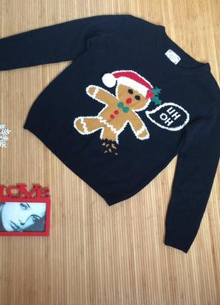 Симпатичный свитерок с печенькой,размер s большемерит2