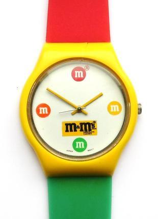 M&m's by mars цветные часы из сша механизм japan miyota
