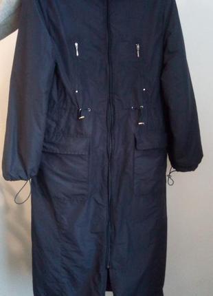 Длинное пальто на синтепоне