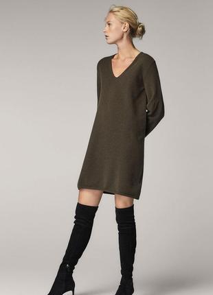 Шерстяное платье massimo dutti в идеальном состоянии