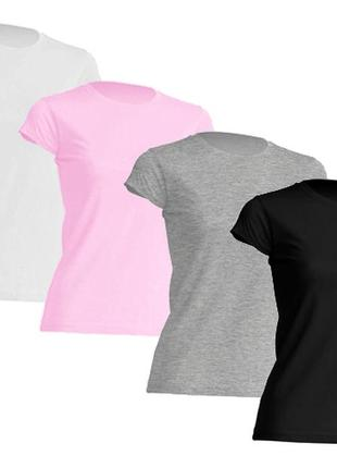 Комплект однотонных базовых футболок 100% хлопок испания размеры