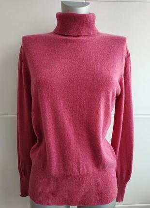 Кашемировый свитер, водолазка (100% кашемир)  розового цвета