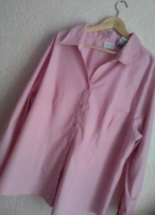 Рубашка цвета винтажной розы для пышной красы