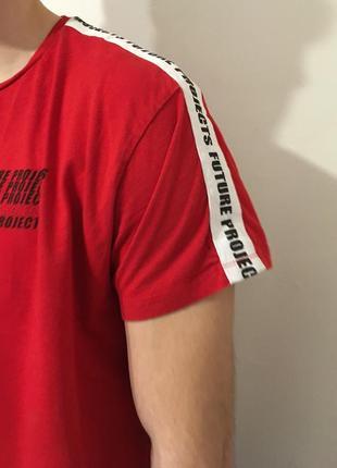 Трендовая футболка с лампасами оверсайз l nike adidas kappa