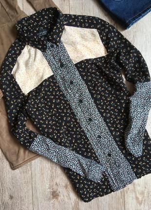 Рубашка  в цветочный принт topshop