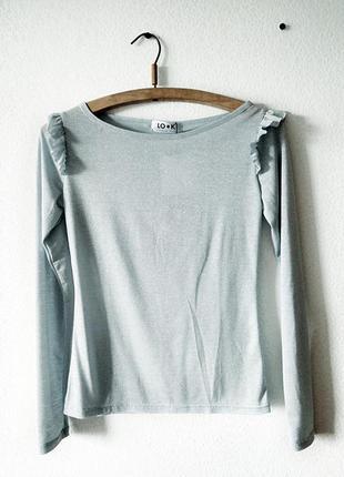 Блуза с воланами (блуза с крылышками)