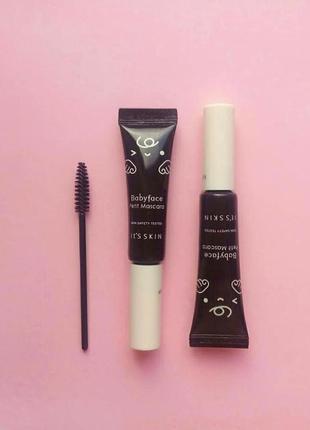 Тушь для ресниц чёрная подкручивающая it's skin babyface petit mascara 01