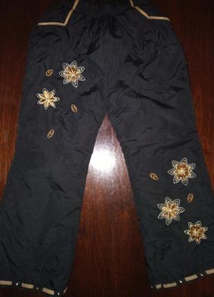 Теплые штанишки для девочки