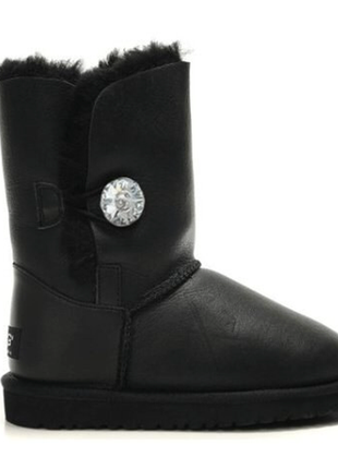 Женские угги ugg bailey button boot leather bling black р.36-40