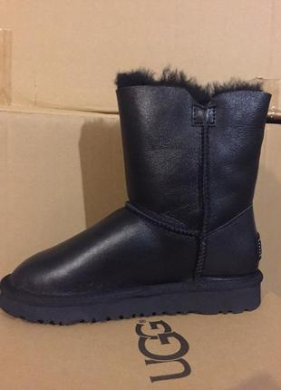 Женские угги ugg bailey button boot leather bling black р.36-403