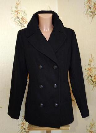 Очень красивое теплое пальто merona 63% шерсть