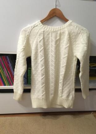 Кремовый свитер шерсть+акрил
