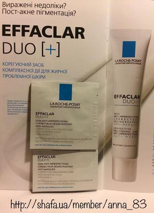 Корректирующая эмульсия для жирной и проблемной кожи la roche-posay effaclar duo+