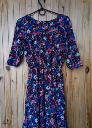 Шикарное вечернее нарядное мини платье с цветочным принтом xs-s
