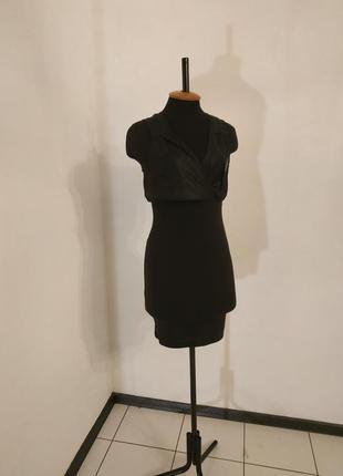 Маленькое чёрное платье верх шифон