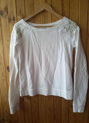 Очень крутой брендовый дорогой свитер с нашивкой вышивкой оригинал hollister холлистер