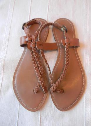 Кожаные сандалии р.39(6) ст.25,8см индия