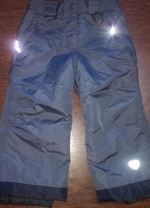 Штаны лыжные lupilu 86-92 см( 1,5-2 г).