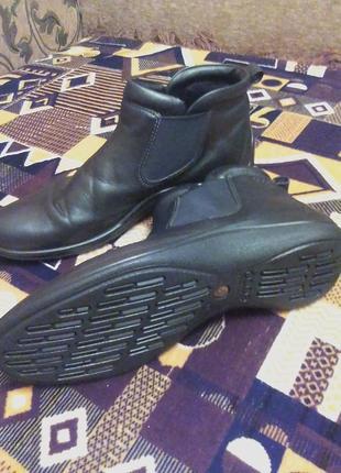 Кожаные челси,ботинки,сапоги,ортопедические.41р.от бренда ecco.