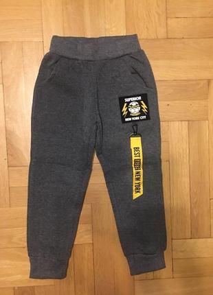 Спортивные брюки с начесом для мальчиков active sport, 98-128