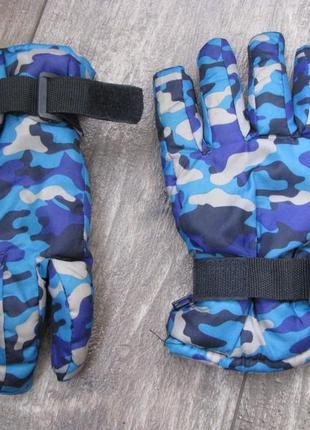 Перчатки лыжные xs 8-10 лет на мальчика
