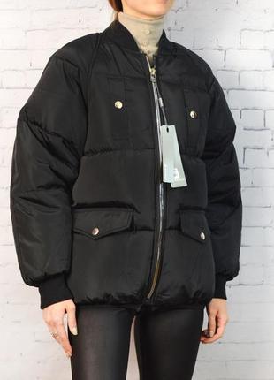 Женский утепленный бомбер демисезонная куртка
