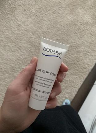 Очищающее и увлажняющее молочко для тела biotherm lait de douche