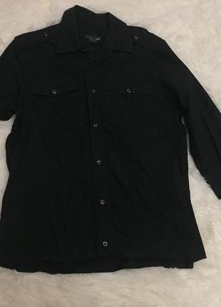 Женская рубашка чёрная