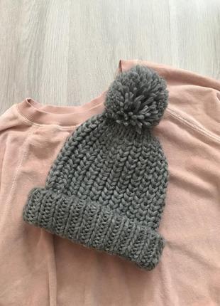 В'язана новенька шапуля шапка c&a