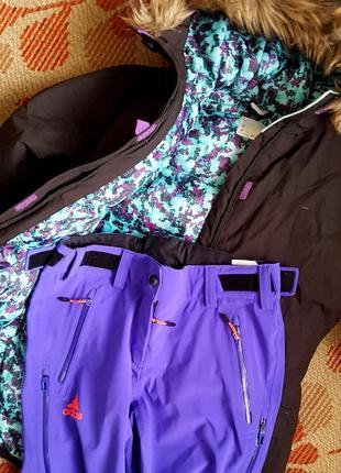 Adidas softshell лыжные штаны и термо  куртка