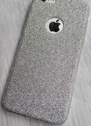 Чехол айфон 6 6s в блесточку силиконовый