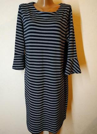 Классное демисезонное платье большого размера