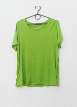 Летняя трикотажная хлопковая футболка zara