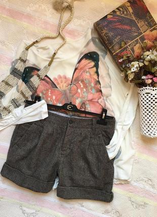 Шерстяные шорты с высокой посадкой /marc o polo/ размер s-m