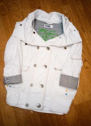 Белый пиджак жакет джинсовый куртка