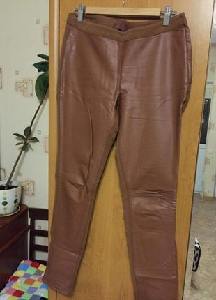 Продаю штаны со вставками штучной кожи h&m