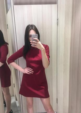 Шикарное вечернее платье цвета марсала 🍒3
