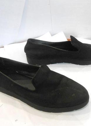 Удобные туфли мокасины на низком ходу, р.42 код к4206
