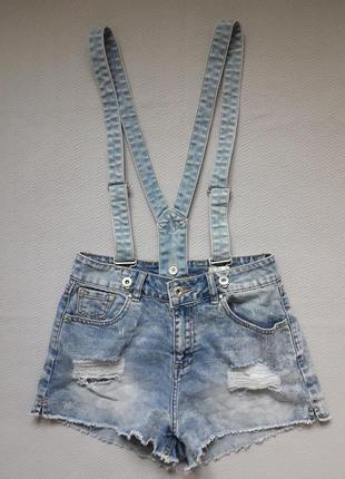Крутой джинсовый комбенизон с потёртостями lexy skinni