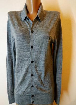 Брендовая шерстяная рубашка100%мерино