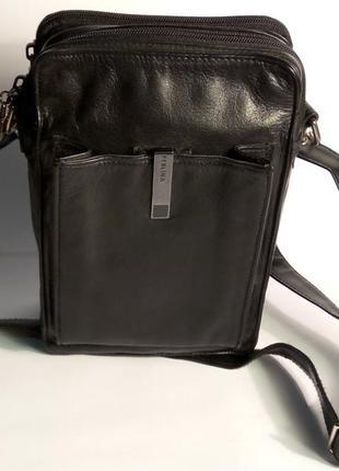 Мужская кожаная барсетка perlina new york сумка через плече кросс боди