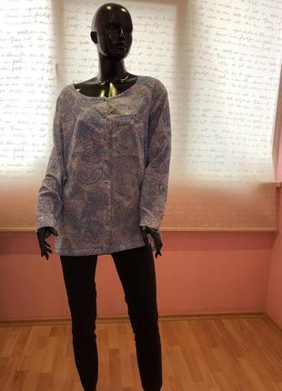 Блуза, рубашка нарядная и нежнейшая, 100% хлопка, размер l, бренда h&m