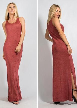 Шикарное летнее платье, качественный тяжёлый трикотаж, bessa, s-m