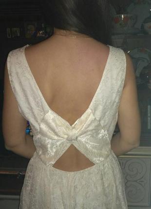 Гипюровое кружевное платье new look