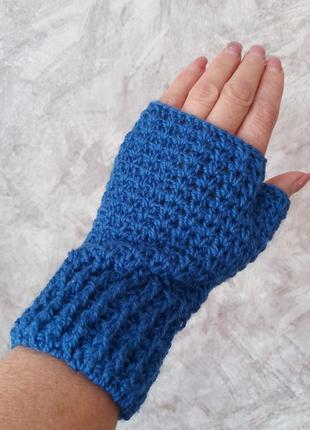 Митенки/рукавички без пальчиков,перчатки,варежки,/