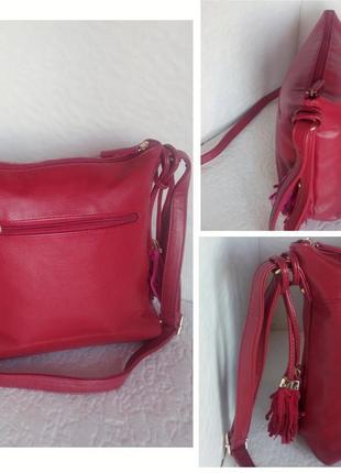 Красная сумка на плечо carpisa4 фото
