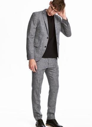 Костюмные брюки h&m premium quality , slim fit.